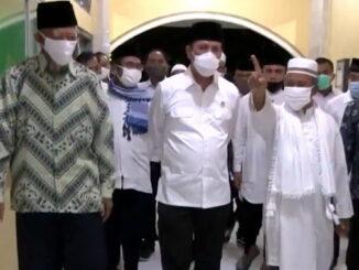 Kepala BNPT Komjen Pol Dr. Boy Rafli Amar saat kunjungan silaturahmi di Ponpes Al-Mukmin Ngruki. (Dok. Istimewa)