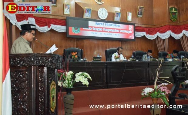 Rapat Paripurna DPRD Kab. Solok.
