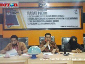 Rapat Pleno terbuka KPU Kep. Selayar.