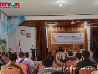 Rapat pleno KPU Kab. Selayar.