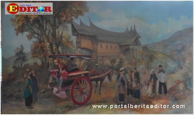 Salah satu lukisan yang dpamerkan.