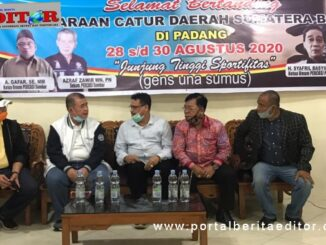 Wagub Nasrul Abit bersama pengurus Percasi Sumbar.