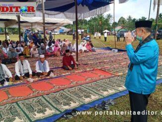 Wagub Nasrul Abit saat memberi sambutan pada tabligh akbar di Limapuluh Kota.