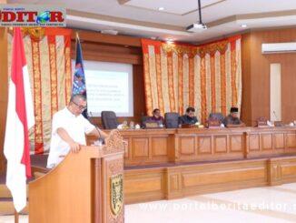 Wako payakumbuh tengah menyampaikan rancangan APBD-P tahun anggaran 2020.