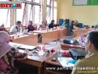 pembinaan terhadap BPP Kostratani Kecamatan Lubuk Sikarah di Aula BPP Lubuk Sikarah.
