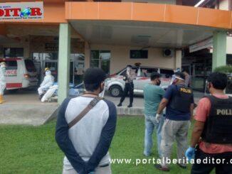 22 tahanan Polres Kota Pariaman yang positif Covid-19 dijaga ketat olah polisi.