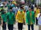 Bapaslon Bupati dan wakil Bupati Syafaruddin- RKN saat memasuki kekarangan KPU untuk mendaftar sebagai peserta Pilkada Limapuluh Kota.