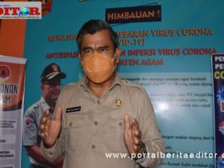 Drs H Martiaswanto Dt Maruhun ketua GTP2 covid-19 Agam.