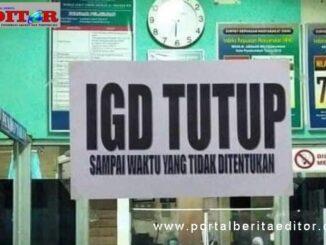 IGD yang ditutup.
