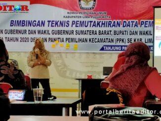 KPU Limapuluh Kota bimtek pemutakhiran Data pemilih.