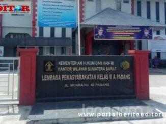 Lapas kelas II A Muara Padang.