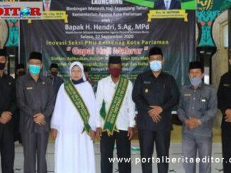 Launching manasik haji di Kota Pariaman.