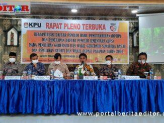 Rapat pleno KPU Kab. Pasaman.