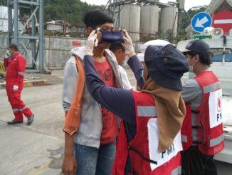 Salah kegiatan PMI Sumbar di Telukbayur.