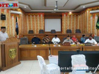 Sidang Paripurna DPRD Payakumbuh penyampaian pendapat akhir Fraksi terhadap rancangan APBD perubahan 2020.