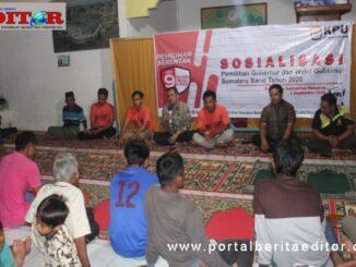 Solialisasi yang dilaksanakan KPU Pasaman.