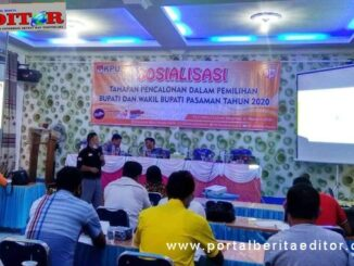 Sosialisasi KPU Kabupaten Pasaman di kecamatan Mapat Tunggul Selatan.