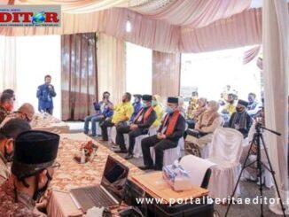 Suasana pendaftaran di KPU Kota Solok.