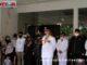 Wagub Nasrul Abit saat memberi sambutan pada pelepasan Almarhum Irdinansyah ke tempat peristihatan terakhir.