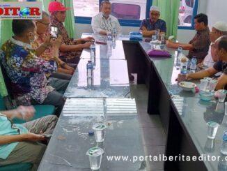 Wagub Nasrul Abit saat silaturrahmi dengan pengurus PWI Sumbar.