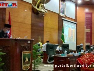 Wakil Gubernur Sumbar Nasrul Abit saat menyampaikan Nota Pengantar Perubahan APBD Tahun 2020
