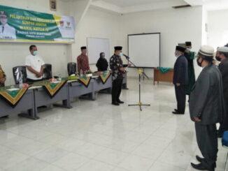 Wako Bukittinggi lantik wakil ketua IV pengurus Baznas Bukittinggi.