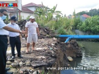 Wako Bukittinggi tinjau pembangunan tahap II normalisasi hulu sungai Batang Agam.