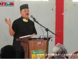 Zuldafri Darma saat memberi sambutan.