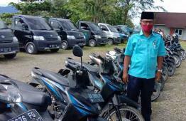 Aset PDAM mobil dan kenderaan roda dua untuk melayanani masyarakat.