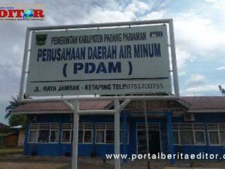 Kantor PDAM Padang Pariaman.