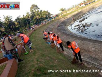Pengunjung obyek wisata kasawan Batang Agam Payakumbuh Sumbar yang terjaring razia 3 M.
