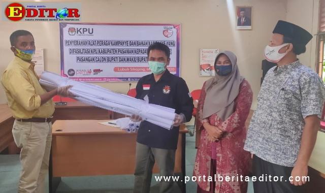 Penyerahan APK oleh KPU Kab. Pasaman.