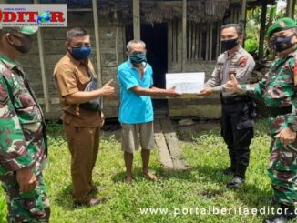 Penyerahan bantuan pda HUT TNI ke 75 di Mentawai.