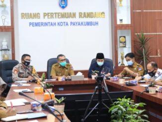 Rapat persiapan pelaksanaan MTQ XXXIX tingkat Kota Payakumbuh dengan protokol Kesehatan Covid-19.