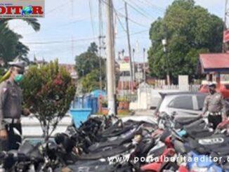 Sepeda motor BB Pelanggaaran dan Laka di Polres Tanah Datar.