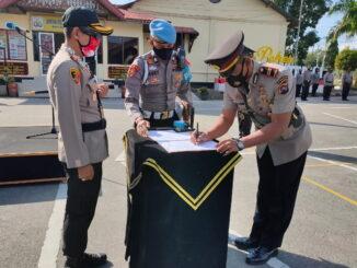 Serahterima jabatan Kasat Shabara Polres Bukittinggi.