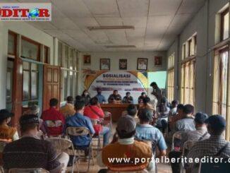 Sosialisasi diaula kantor Kecamatan Saumanganya Pagai Utara kabupaten kepulauan Mentawai.