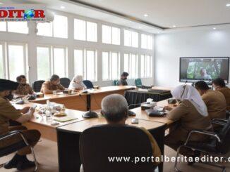 Virtual meeting Wako Padang Panjang dan staf dengan PT.II Jakarta.