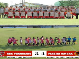 FC Persija Jambak lakukan tanding ujicoba ke homebase RBC Pekanbaru.
