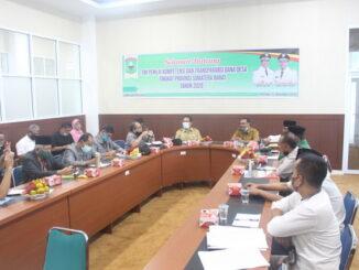 Kunjungan Tim Penilai Kompetensi Dan Transparansi Dana Desa di Kantor Bupati Solok