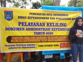 Moge Disdukcapil Payakumbuh lakukan pelayanan perekaman E KTP ke masing masing kelurahan.
