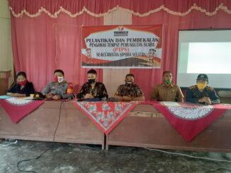 Pelantikan dan pembekalan pengawas tempat pemungutan suara (PTPS)
