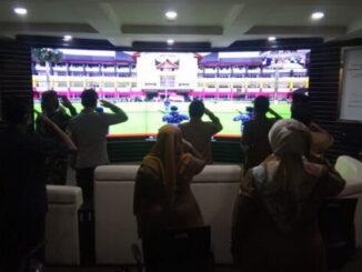 Pemko Bukittinggi ikuti upacara peringatan hari Pahlawan melalui virtual.