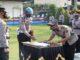 Penandatangan berita acara serah terima dua perwira di Polres Tanah Datar.