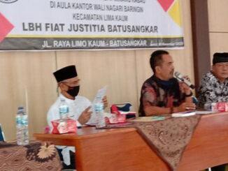 Penyuluhan hukum buat ninik mamak nagari Baringin.