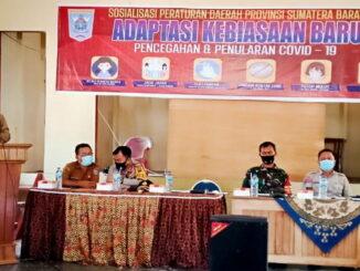 Sosialisasi adaptasi kebiasaan baru pencegahan covid 19 diwilayah kecamatan sipora selatan kabupaten kepulauan Mentawai.