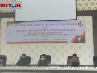Sosialisasi yang digelar PWI dan KPU Kota Payakumbuh.