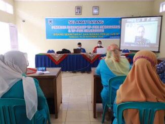 TP PKK Payakumbuh mewakili Sumbar mengikuti pelatihan kader pro sehat kendali covid 19 secara virtual.