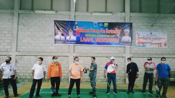 Turnamen Badminton Cup LANAL Mentawai Resmi Dibuka Wakil Bupati Kabupaten Kepulauan Mentawai.