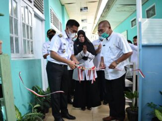 Wawako Payakumbuh Erwin Yunaz resmikan galeri 28 SDN 28 Payakumbuh.
